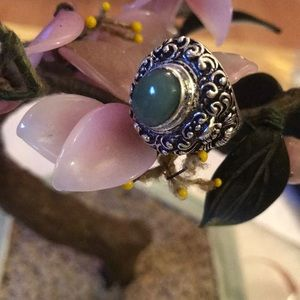 Vintage 925 marvelous Larimar ring